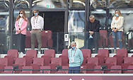 Karen Brady (l) and David Sullivan (3L) take part in the minutes silencer those that have died from Covid19 during the Premier League match at the London Stadium, London. Picture date: 20th June 2020. Picture credit should read: David Klein/Sportimage