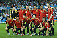VIENNA, AUSTRIA - JUNE 22: Once team of Spain. UEFA EURO 2008 Quarter Final match between Spain and Italy at Ernst Happel Stadium on June 22, 2008 in Vienna, Austria. (Photo by Manuel Queimadelos)