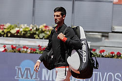 May 9, 2019 - Madrid, Madrid, Spain - Noval Djokovic seen before the Mutua Madrid Open Masters match on day 7 at Caja Magica in Madrid. (Credit Image: © Legan P. Mace/SOPA Images via ZUMA Wire)