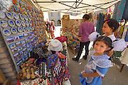 Uzbekistan, Bukhara.<br /> Souvenirs at the tourist bazaar.