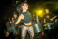 Lady Vendredi & The Vendettas-Voodoo Grace Jones! + Badger Badger Band-9 Piece Psychedelic Disco + Johnny Voltik + Badger Samba-Carnival Drum Procession. (Photo/Ivan Gonzalez)