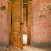 Old Brothel Interior Doorway - Ghost Town - Rhyolite NV