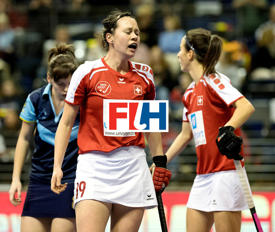 BERLIN - Indoor Hockey World Cup<br /> Quarterfinal 2: Ukraine - Switzerland<br /> foto: ST&Uuml;HLINGER Julia.<br /> WORLDSPORTPICS COPYRIGHT FRANK UIJLENBROEK