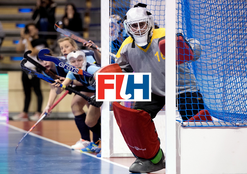 BERLIN - Indoor Hockey World Cup<br /> Women: Ukraine - Germany<br /> foto: FADIEIEVA Alina.<br /> WORLDSPORTPICS COPYRIGHT FRANK UIJLENBROEK