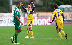Rene Mihelic of Maribor celebrates after 13th Round of Prva Liga football match between NK Olimpija and Maribor, on October 17, 2009, in ZAK Stadium, Ljubljana. Maribor won 1:0. (Photo by Vid Ponikvar / Sportida)