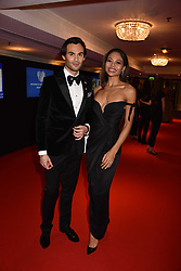 Mark-Francis Vandelli and Viscountess Weymouth at the Chain of Hope Gala Ball held at the Grosvenor House Hotel, Park Lane, London England. 17 November 2017.<br /> Photo by Dominic O'Neill/SilverHub 0203 174 1069 sales@silverhubmedia.com