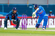 India ODI all rounder Dinesh Karthik  in action  during the 3rd Royal London ODI match between England and India at Headingley Stadium, Headingley, United Kingdom on 17 July 2018. Picture by Simon Davies.