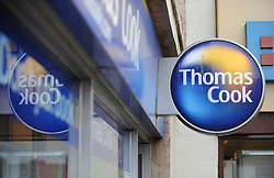 FILE PICTURE © Licensed to London News Pictures. 22/11/2011. Redcar, Cleveland. The branch of Thomas Cook in Redcar in Cleveland.The travel retailer has announced 2,500 job cuts and planned closure of 195 branches nationwide. Photo credit : Ian Forsyth/LNP