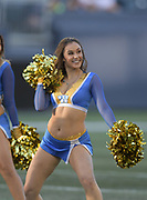 Aug 22, 2019; Winnipeg, Manitoba, CAN; Winnipeg Bombers cheerleaders perform in the first half of the NFL game between the Green Bay Packers and the Oakland Raiders at Investors Group Field.