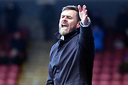Scunthorpe United Manager Graham Alexander  during the EFL Sky Bet League 1 match between Scunthorpe United and Shrewsbury Town at Glanford Park, Scunthorpe, England on 17 March 2018. Picture by Mick Atkins.