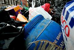 UK ENGLAND LONDON 15MAR07 - Waste container in Brick Lane, East London...jre/Photo by Jiri Rezac..© Jiri Rezac 2007..Contact: +44 (0) 7050 110 417.Mobile:  +44 (0) 7801 337 683.Office:  +44 (0) 20 8968 9635..Email:   jiri@jirirezac.com.Web:    www.jirirezac.com..© All images Jiri Rezac 2007 - All rights reserved.