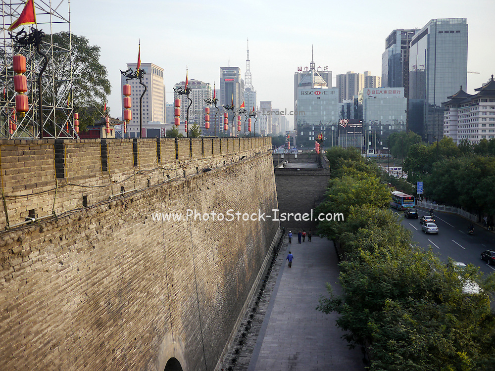 China, Xian, fortified city