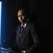Sports television personality STEPHEN A. SMITH delivers keynote address at the 2019 HBCU celebration dinner, Friday, Mar. 01, 2019, at Hotel duPont in Wilmington, DE.  <br /> <br /> The black tie event was a fundraiser for wilmington youth to have an opportunity to attend historically black colleges and universities.