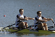 Seville. SPAIN, 18.02.2007, GBR M2X bow Alex GREGORY and Steve ROWBOTHAM, competing in Sundays final, at the FISA Team Cup, held on the River Guadalquiver course. [Photo Peter Spurrier/Intersport Images]    [Mandatory Credit, Peter Spurier/ Intersport Images]. , Rowing Course: Rio Guadalquiver Rowing Course, Seville, SPAIN,