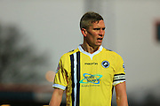 Steve Morison during the Sky Bet League 1 match between Rochdale and Millwall at Spotland, Rochdale, England on 13 February 2016. Photo by Daniel Youngs.