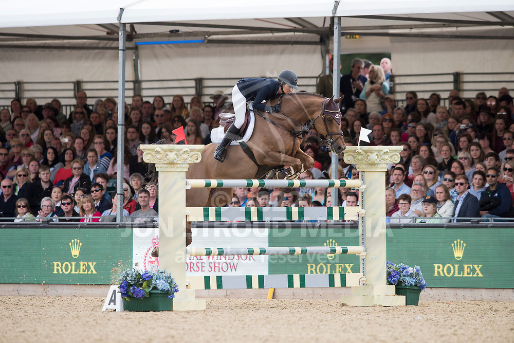 Janika  Sprunger  (SUI) & Aris Cms - Rolex Grand Prix - CSI5* Jumping - Royal Windsor Horse Show - Home Park, Windsor, United Kingdom - 14 May 2017