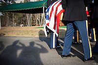 Soldiers bring the casket of Army 1st Lt. Scott Milley, 23 year old, who was killed in Afghanistan on November 30th,2010, Western massachusetts.