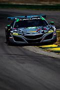 August 17-19 2018: IMSA Weathertech Michelin GT Challenge at VIR. 86 Michael Shank Racing, Acura NSX GT3, Katherine Legge, Alvaro Parente