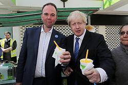 © Licensed to London News Pictures. 29/02/2016. Croydon, UK. Gavin Barwell MP for Croydon North. Mayor Boris Johnson visits Croydon.  Photo credit: Presspics/LNP
