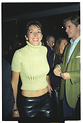 RORY FLEMING, GHISLAINE MAXWELL, Plum & Lucy Sykes 30th birthday. Lot 61, 550 West 21 St. NY. 4/12/99