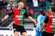 27-08-2011: Voetbal:NEC Nijmegen:Heracles Almelo:Niijmegen<br /> NEC's Nick VAN DER VELDEN viert zijn doelpunt met NEC's Remy AMIEUX <br /> Foto: Geert van Erven