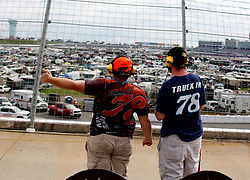 September 30, 2018 - Charlotte, NC, U.S. - CHARLOTTE, NC - SEPTEMBER 30:  #78: Martin Truex Jr., Furniture Row Racing, Toyota Camry Auto-Owners Insurance fans during the running of the Inagural Bank of America ROVAL 400 on Sunday September 30, 2018 at Charlotte Motor Speedway in Concord North Carolina  (Photo by Jeff Robinson/Icon Sportswire) (Credit Image: © Jeff Robinson/Icon SMI via ZUMA Press)
