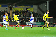 Burton's Jackson Irvine (36) plays through to Tom Naylor (15) during the EFL Sky Bet Championship match between Burton Albion and Queens Park Rangers at the Pirelli Stadium, Burton upon Trent, England on 27 September 2016. Photo by Richard Holmes.