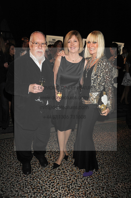 Left to right, SIR PETER & LADY BLAKE and VIRGINIA BATES at British Style Observed - part of National Magazine's 30 Days of Fashion & Beauty festival featuring photographs by Mary McCartney with proceeds from the evening going to Macmillan Cancer Care held at the Natural History Museum, Cromwell Road, London on 16th September 2008.