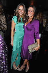 Left to right, LAVINIA BRENNAN and NATALIE PINKHAM at the launch of Beulah's collaboration with Hennessy Gold Cup and a preview of the SS13 Collection held at The Brompton Club, 92b Old Brompton Road, London SW7 on 18th October 2012.
