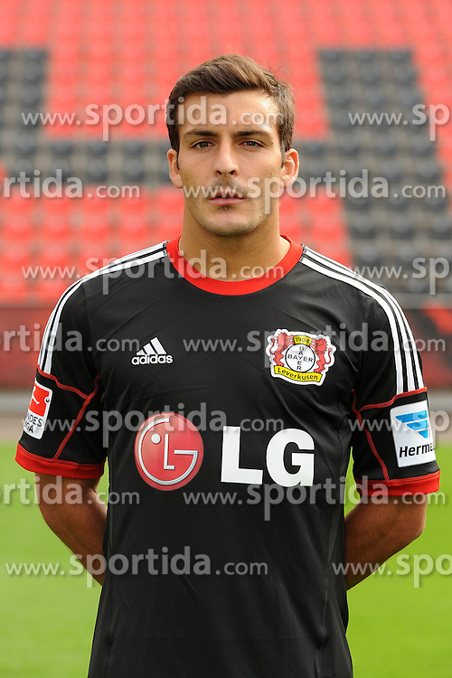 13.09.2013, BayArena, Leverkusen, GER, 1. FBL, Bayer 04 Leverkusen, Fototermin, im Bild Guilio Donati ( Bayer 04 Leverkusen/ Portrait Saison 2013/14 ) // during the Official Team photo of German Bundesliga Club Bayer 04 Leverkusen at the BayArena, Leverkusen, Germany on 2013/09/13. EXPA Pictures © 2013, PhotoCredit: EXPA/ Eibner/ Thomas Thienel<br /> <br /> ***** ATTENTION - OUT OF GER *****