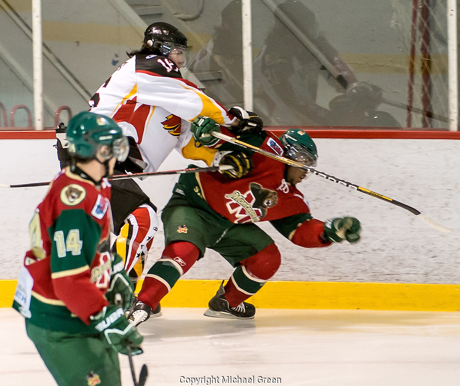 Hockey,Mustangs de Vaudreuil-Dorion Junior AAA contre Sainte-Agathe