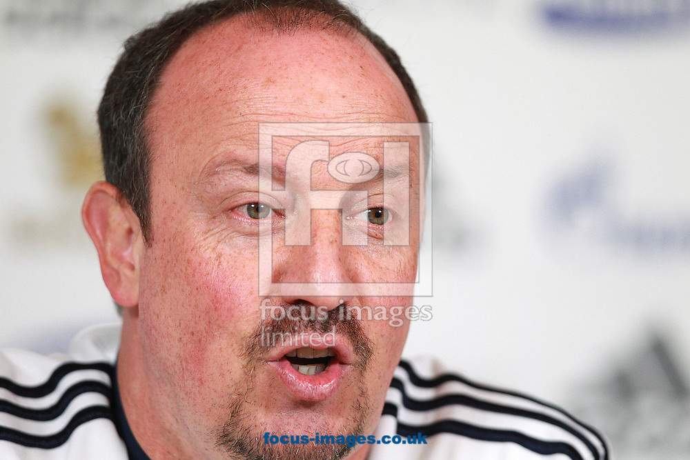 Picture by Paul Terry/Focus Images Ltd +44 7545 642257.22/02/2013.Chelsea Interim Manger, Rafa Benitez pictured speaking during  a press conference at Chelsea Training Ground, Cobham.