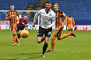 Bolton Wanderers Forward, Gary Madine (14) during the EFL Sky Bet Championship match between Bolton Wanderers and Hull City at the Macron Stadium, Bolton, England on 1 January 2018. Photo by Mark Pollitt.