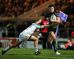 Exeter Chiefs' Fly Half, Henry Slade   - Photo mandatory by-line: Joe Meredith/JMP - Mobile: 07966 386802 - 24/01/2015 - SPORT - Rugby - Exeter - Sandy Park Stadium - Exeter Chiefs v Bayonne - Challenge Cup Round 6