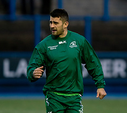 Tiernan O'Halloran of Connacht during the pre match warm up<br /> <br /> Photographer Simon King/Replay Images<br /> <br /> Guinness PRO14 Round 14 - Cardiff Blues v Connacht - Saturday 26th January 2019 - Cardiff Arms Park - Cardiff<br /> <br /> World Copyright © Replay Images . All rights reserved. info@replayimages.co.uk - http://replayimages.co.uk