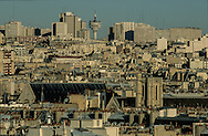 France. Paris. elevated view. Paris. view from Saint Eustache church bell tower