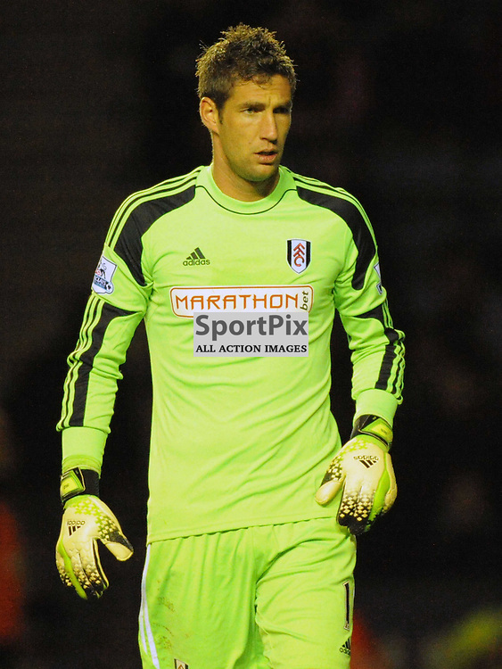 Maarteen Stekelenburg Goalkeeper Fulham, Leicester City v Fulham, Capital One Cup, 29th October 2013