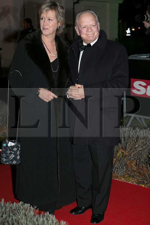 © licensed to London News Pictures. London, UK 06/12/2012. Sir David Jason (right) attending The Sun Military Awards at Imperial War Museum with his wife. Photo credit: Tolga Akmen/LNP