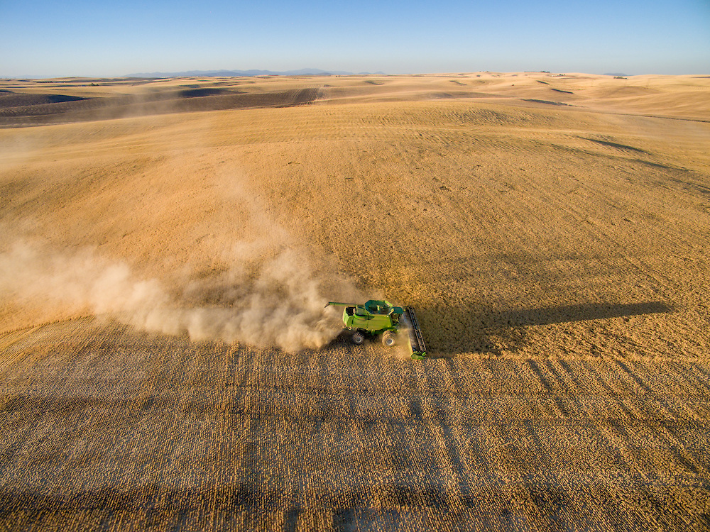 Barley harvest in Reardan, Washington.