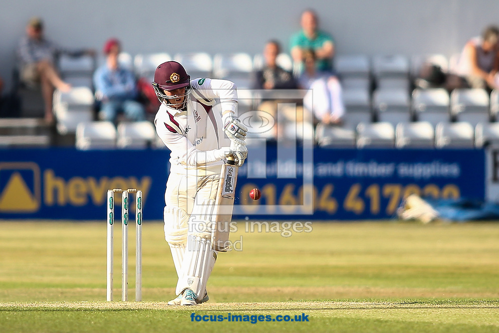 Rob Newton of Northamptonshire CCC during the Specsavers County C'ship Div Two match at the County Ground, Northampton<br /> Picture by Andy Kearns/Focus Images Ltd 0781 864 4264<br /> 14/08/2016