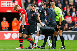 Stuart Armstrong of Southampton leaves the pitch after getting injured during the game - Mandatory by-line: Ryan Hiscott/JMP - 12/08/2018 - FOOTBALL - St Mary's Stadium - Southampton, England - Southampton v Burnley - Premier League