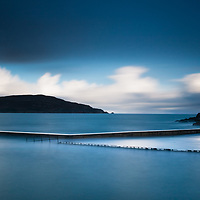 A long exposure over the old fishing port of Dunfanaghy, Ireland during a very high tide.