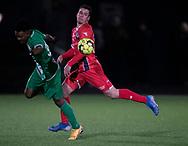 Foster Langsdorf (FC Helsingør) under træningskampen mellem FC Helsingør og Saudi Arabien U21 landshold den 27. november 2019 på Svanemølle Anlægget i København (Foto: Claus Birch).