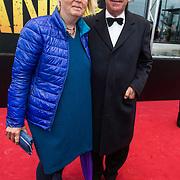NLD/Amsterdam/20140508 - Wereldpremiere Musical Anne, Frans Wijsglas en partner .....
