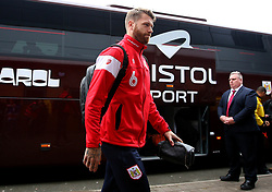 Nathan Baker of Bristol City arrives at The Pirelli Stadium for the Sky Bet Championship match with Burton Albion - Mandatory by-line: Robbie Stephenson/JMP - 10/03/2018 - FOOTBALL - Pirelli Stadium - Burton upon Trent, England - Burton Albion v Bristol City - Sky Bet Championship