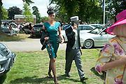 BRIGITTE NIELSON; MATTIA DESSI, Royal Ascot. Tuesday. 14 June 2011. <br /> <br />  , -DO NOT ARCHIVE-© Copyright Photograph by Dafydd Jones. 248 Clapham Rd. London SW9 0PZ. Tel 0207 820 0771. www.dafjones.com.