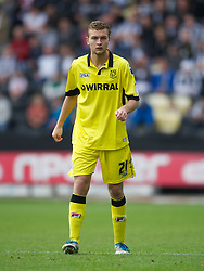 NOTTINGHAM, ENGLAND - Saturday, October 6, 2012: Tranmere Rovers' Ben Gibson in action against Notts County during the Football League One match at Meadow Lane. (Pic by David Rawcliffe/Propaganda)