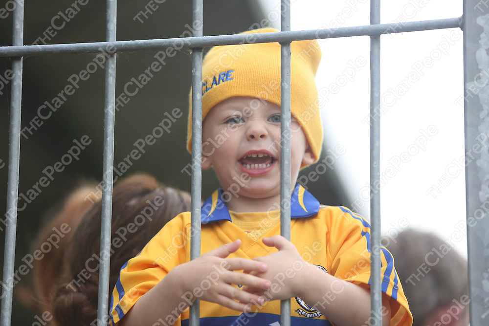 Clare Hurling fan Kayden Moloney pictured at  the Open Training Night on Tuesday.<br /> Pic. Brian Arthur/ Press 22.
