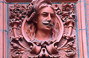 CHICAGO, ARCHITECTURE terra cotta relief of man with mustache