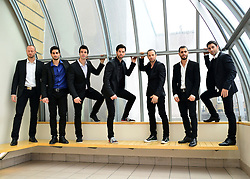 Los Vivancos photocall.  Dance troupe consisting of seven Spanish brothers attend photocall ahead of their debut West End show (July 9). Performance mixes flamenco with ballet, martial arts, tap dance and magic, London, United Kingdom, 28th May 2013. Photo by Nils Jorgensen / i-Images.